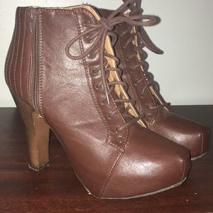 Charlotte Russe laceup booties